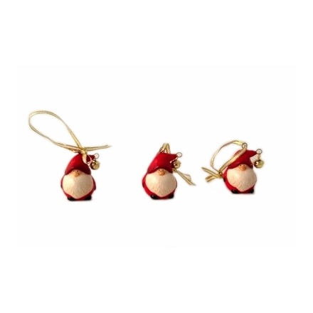 Hanging Santa Tree Decorations with Bells (12)