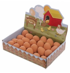 Bouncing egg balls. Pocket money toys in display box of 24