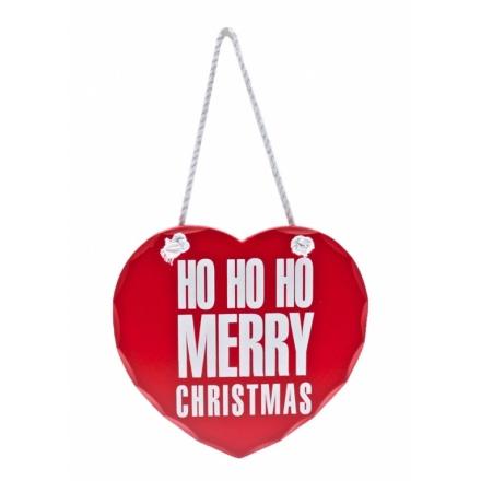 Ho Ho Ho Merry Christmas Heart Sign