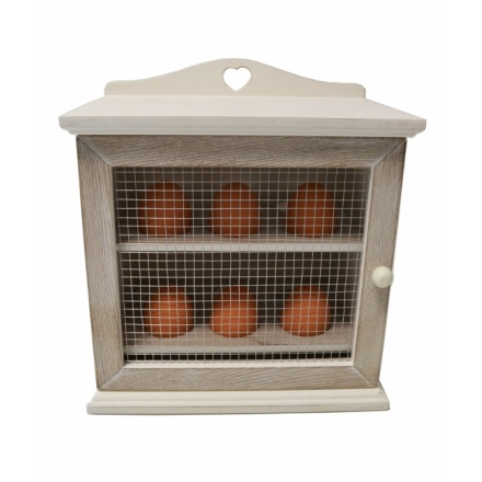 Cream Natural Wooden Egg Cabinet