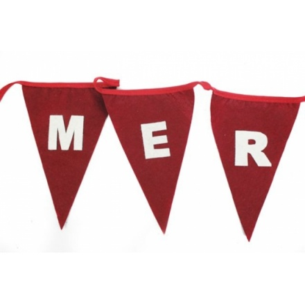 Felt festive bunting in traditional colours , great seller!