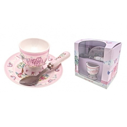 Bird & Ellie Set With Spoon - Pink