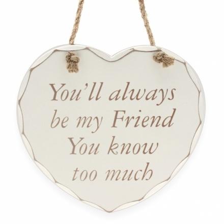 Always Be My Friend - Plaque