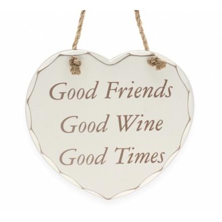 Good Friends Good Wine - Plaque