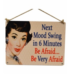 Vintage metal sign, add a bit of cheek and humour to your home