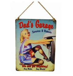 A great gift for Dad, vintage looking metal sign