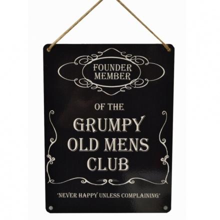 Grumpy Old Mens Club Metal Sign