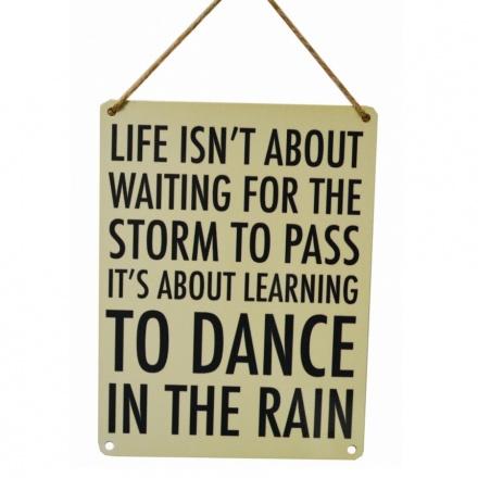Dance In The Rain Vintage Metal Sign