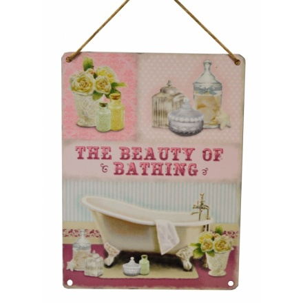 Beauty of Bathing Vintage Metal Sign