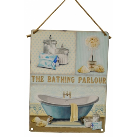 Bathing Parlour Vintage Metal Sign