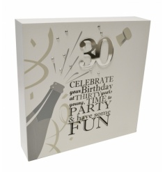 Classic and contemporary Birthday block with a lovely poem and embellished decoration.