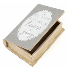 'Fill your life with love & joy' Wooden storage box