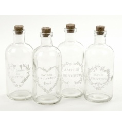Delicate glass bottles with assorted detail by Heaven Sends