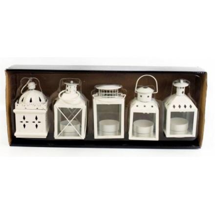 Cream 5pc Lantern Set