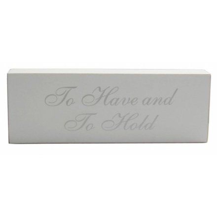 Wooden Wedding Block