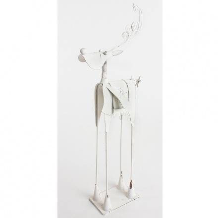 Metal Reindeer W/Scarf, Small