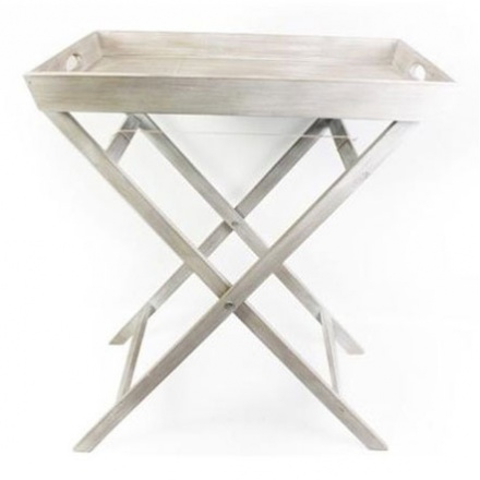 Limewash Tray and Stand 68cm