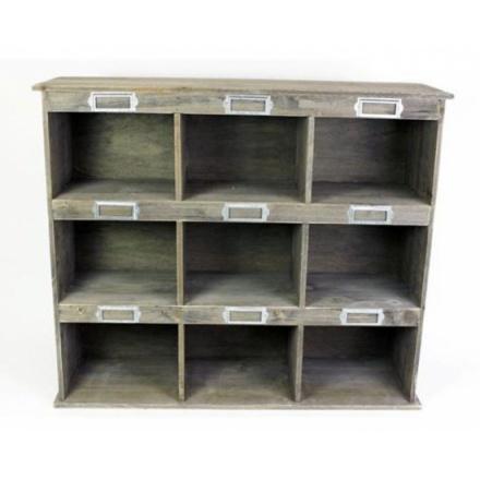 9 Section Wooden Unit 70cm