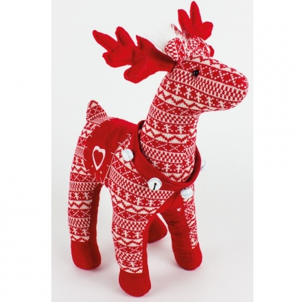 Red and White Standing Reindeer