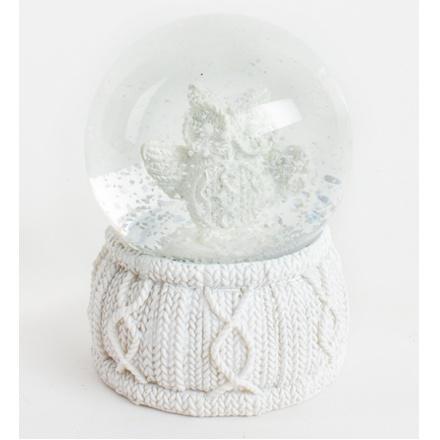 White Owl In Snow Globe