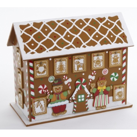 Gingerbread House Advent 33cm