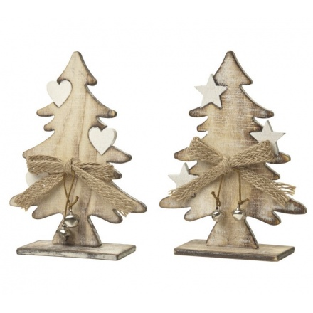 Wooden Tree With Star/Heart, 2a