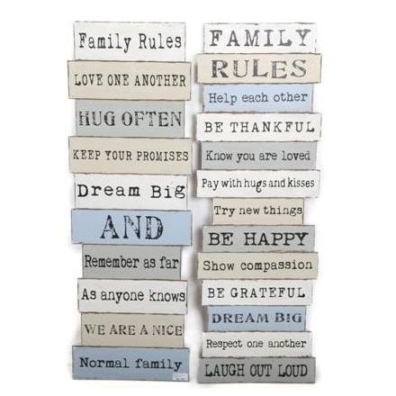 Family Wall Plaque 120cm 2 Asstd