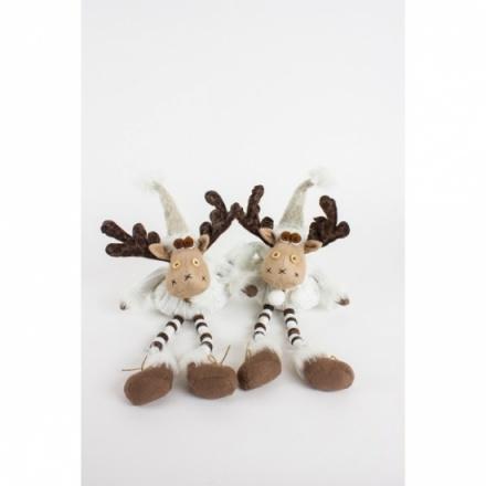 Fabric Sitting Moose W/Bendy Legs, 2a