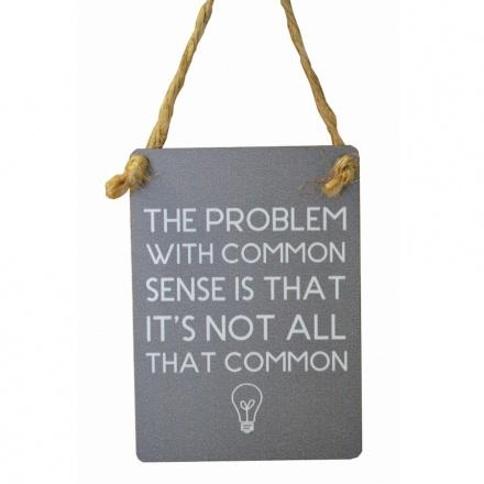 Common Sense Mini Grey Metal Sign