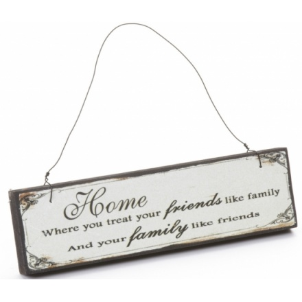Friends Like Family Wooden Sign