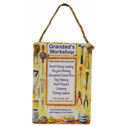 Grandads Workshop Mini Dangler Metal Sign