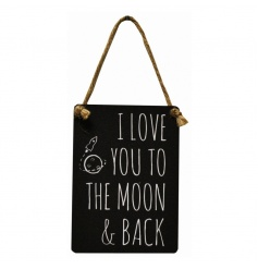 Sweet metal vintage sign from our new and exclusive mini dangler range
