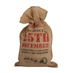 Large Special Delivery Toy Sack with Santa Claus express stamp and festive text.