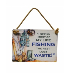 Add a little humour to your day with these vintage metal mini dangler signs