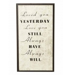 Chic wooden sign from Heaven Sends with loving sentiment script