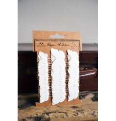 A pack of pretty white butterfly ribbon making the perfect finishing touch for a number of occasions.