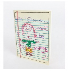 Colourful and quirky embroidered gift card, the perfect way to show how much you care