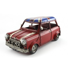 Vintage style classic mini model with Union Jack design