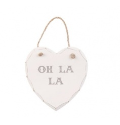 Hanging wooden heart plaque at a great price, limited stocks available