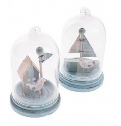 Mix of glass decorations with a coastal theme by Heaven Sends
