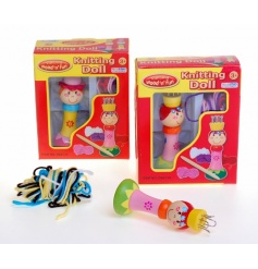 Bright and colourful Knitting Doll toy, a great gift for someone crafty