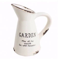 Cute ceramic jug decoration with Garden text