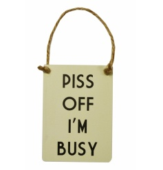 New and exclusive to Gainsborough Giftware, humorous mini metal dangler