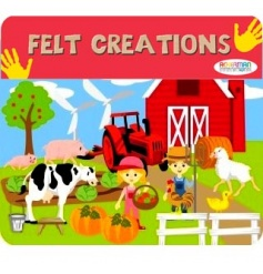 Create hours of fun with this felt farm play set, a great stocking filler and pocket money toy