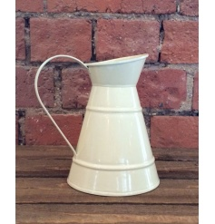 Zinc jug with cream finish, a handy in-trend piece