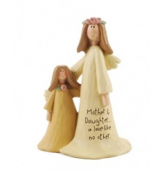 A chic 'mother and daughter a love like no other' decorative ornament.
