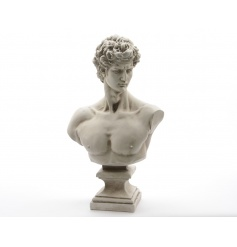 Historical style David bust ornament