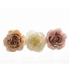Chic rose clips in dusty pink, pastel and white colours. Perfect for a number of uses.