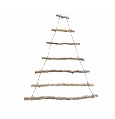 A decorative branch style tree with a rustic design