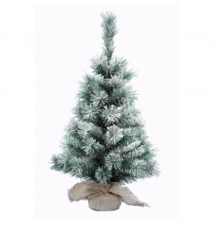 A fine quality snowy tree within a hessian base. A festive essential to compliment many themes.